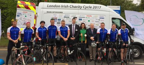 Cyclists take on 300 mile challenge to raise funds for the London Irish Ward Appeal