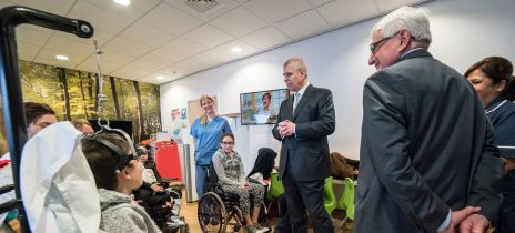 HRH, The Duke of York, visits the RNOH redevelopment