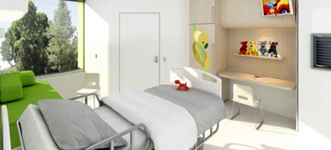 The Children and Young People's Ward Patient Room